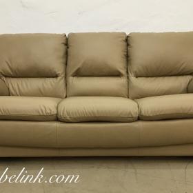 перетяжка дивана кожей фото