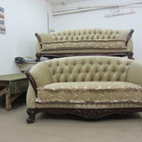 обтяжка старого дивана фото