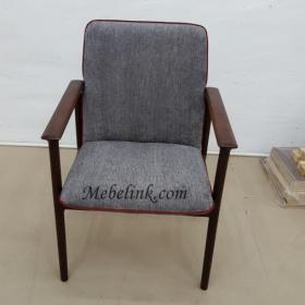 перетяжка кресла тканью фото