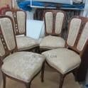 Перетяжка стульев тканью фото 4