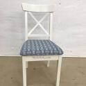 Перетяжка стульев тканью фото 5